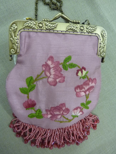 Roslyn Auchterlonie - Handbag with Floral Embroidery